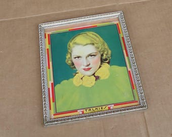claire trevor vintage movie print picture poster,soundtrack memorabilia, key largo