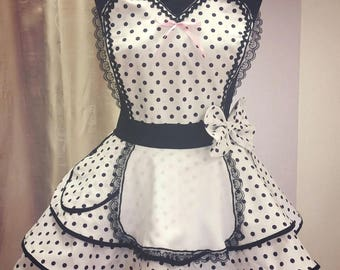 retro apron burlesque style