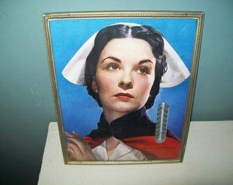 Vintage Mercy Hospital Scranton PA occupational advertising nursing framed photo