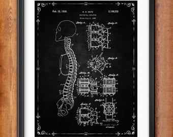 Human Skeleton Antique Anatomy Wall Art Poster - Human Skeleton Poster - Medical Student Gift Idea - Antique Anatomy Home Decor - 1301
