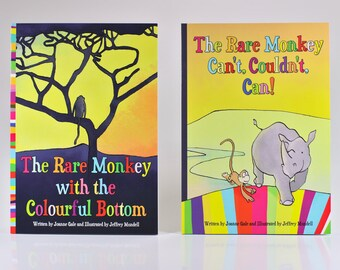 Set of 2 The Rare Monkey picture books