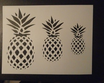 Pineapple Pineapples Custom Stencil FAST FREE SHIPPING