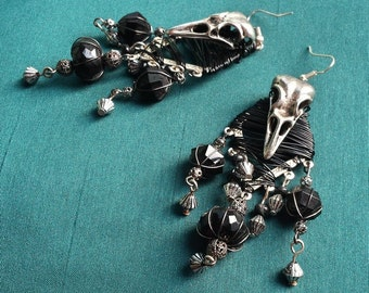 The Raven - earrings pagan
