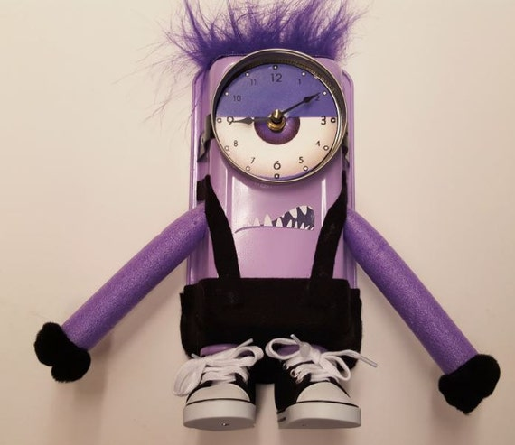 Purple Minion Inspired Clock