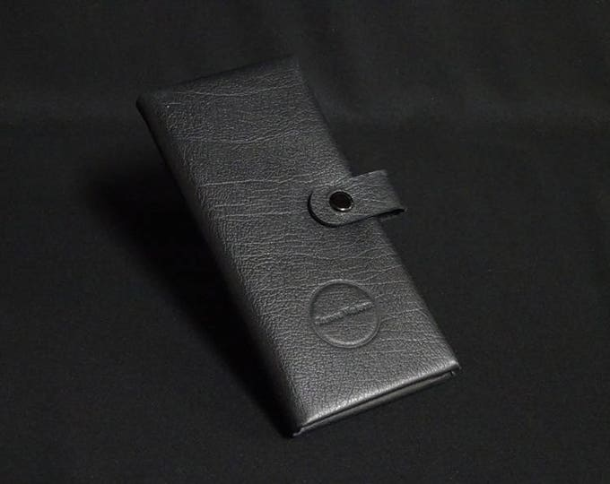 Billfold-16 Wallet - Black Texture - Kangaroo leather phone wallet with RFID Credit Card blocking - Handmade - James Watson