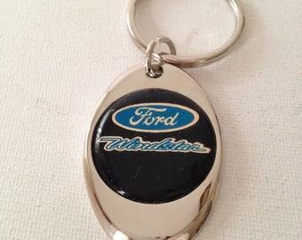 Ford Windstar Script Keychain Chrome Plated Ford Key Chain