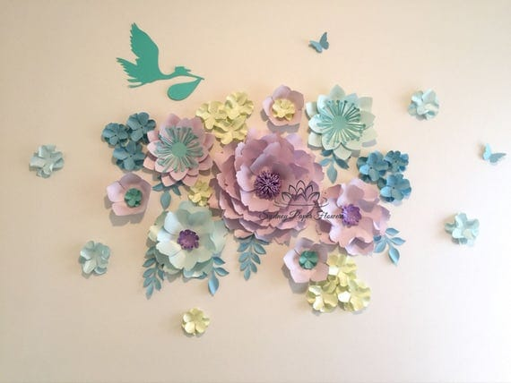 Nursery Paper Flowers Paper Flowers Over The Crib Baby Paper