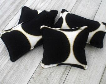 Black & Gold Catnip Toy - Catnip Pillow - Kitty Toy - Organic Catnip - Catnip Square - Cat Lover Gift - Handmade Cat Gift - Kitten Toy