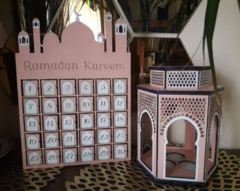 Ramadan Calendar wooden box for candies