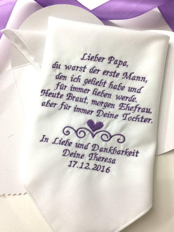 deutsche version papa hochzeit taschentuch vater der. Black Bedroom Furniture Sets. Home Design Ideas