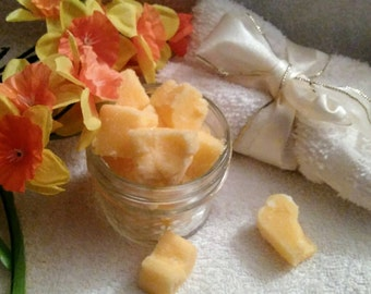 Peach Sugar Cubes~Peach Scrub~Face Scrub~Peach Body Scrub~Peach Face And Body Cleanser~Peach Moisturizing Scrub~