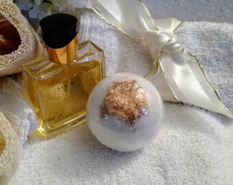 Gold Bath Bomb~Warm Vanilla Sugar Bath Bomb~Party Favors~Shower Favors~Proposal Box Favor~Bachelorette Party Favors~Fancy Bath Bomb~