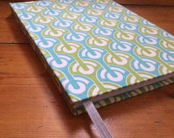 Large Notebook Covered in an Abstract Fabric