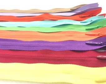Invisible Zippers 13 Inches Assorted Colors