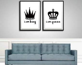 King And Queen Crown Wall Decor queen crown | etsy