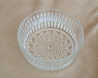 Vintage Glass Serving Dish; Vintage Glass Bowl
