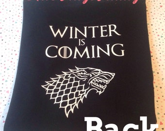 Game Of Thrones inspired shirt, game of thrones, winter is coming, winter is coming shirt, stark, house stark, game of thrones shirt