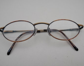 Oval Brown retro style Clear Lens Glasses, women glasses, Vintage Glasses, Retro Glasses, 1980 glasses, fielmann glasses, made in france 35