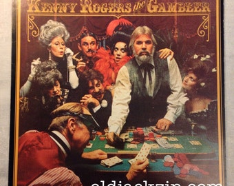 Kenny Rogers The Gambler Includes poster! Original 1978 United Artists LP VG+