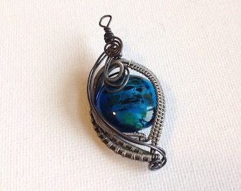 Wire glass necklace