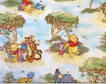 Disney Winnie the Pooh and Friends Nursery Scenic Cotton Print Fabric per fat quarter per metre FQ