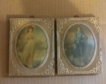 Vintage c1900s Portraits Mounted on Wood