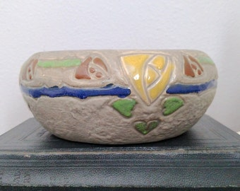 Vintage Roseville Mostique Bowl - Early Arts Pottery - Vintage - Antique