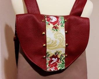 Backpack Backpack in Burgundy leather Burgundy