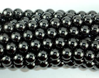 Magnetic Hematite Beads, 10mm Round Beads, 16 Inch, Full strand, Approx 41 beads, Hole 1 mm, A quality (269054009)