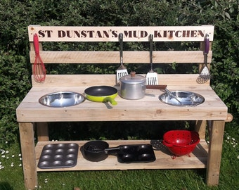 My MUD Kitchen Outdoor Wooden Play Kitchen