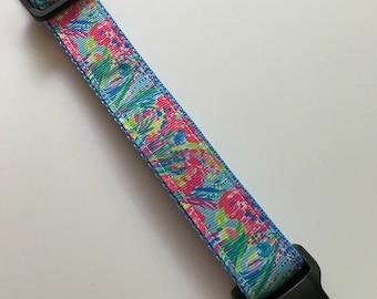 """Lilly Pulitzer inspired dog collar """"Sea Pants Fancy"""" adjustable dog collar dog accessories collar for dogs puppy dog collar pet collar"""
