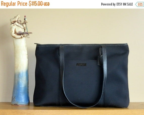 Football Days Sale Coach Neo Large Tote- Black Fabric and Leather- Excellent Used Condition- Rare