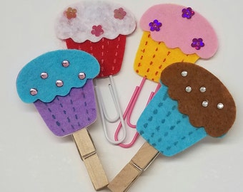Colored Cupcakes Bookmarks / Page Markers / Page Holder / Planner Helper