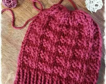 Pink Switz Button Beanie