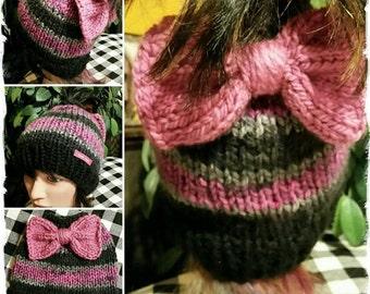 Ponytail Bow Hat