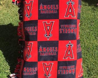 Angels Baseball Halo Fleece Blanket (smaller size)