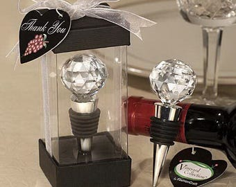 Wedding Gifts Crystal Bottle Stoppers, Wine Stopper, Cork, Wedding Gifts