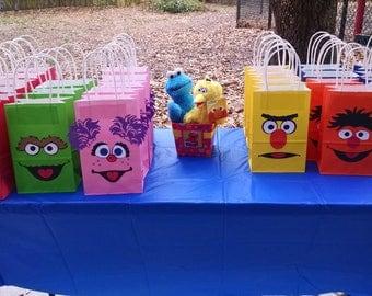 Sesame Street inspired goody bags