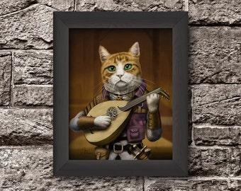 Fantasy Cat Hero - Bard Cat