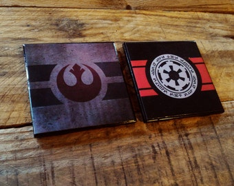 Star Wars, galactic Empire, Rebel Alliance, ceramic, tile, drink coaster, Jedi, Sith, barware