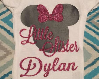 Little sister Minnie Mouse onesie