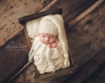 Newborn hat,Newborn photo props, Elf hat,Mohair hat,Newborn photo props, photography props,knitted hat,Knits Hat,baby hat,baby props,