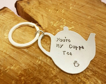 Valentines Keyring teapot keyring couple gifts tea lover gifts for tea drinkers