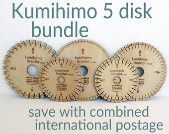 Kumihimo 5 disk bundle, save with combined international shipping costs.