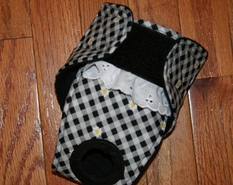 Female Dog Diaper, Panties, dog Britches, Nappies.  Washable Heat Cycle, Incontinence - Daisy Gingham - by angelpuppi