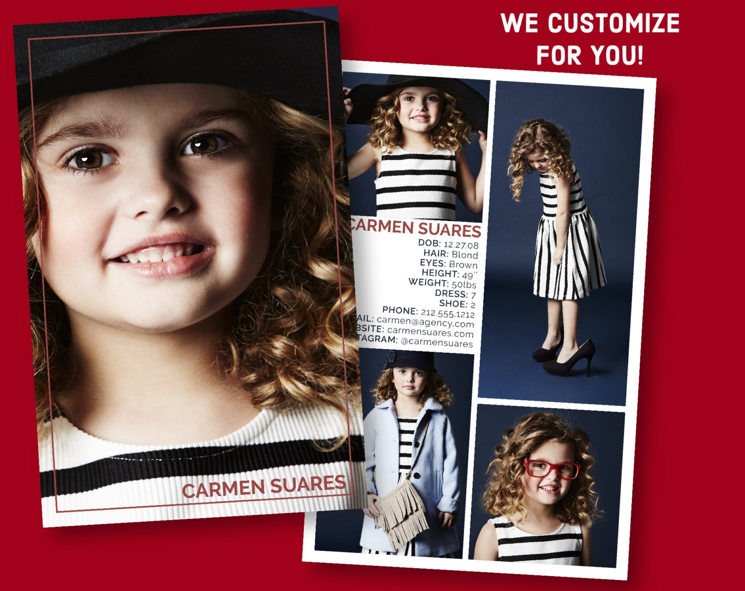 Free Model Comp Card Template Psd 1335607