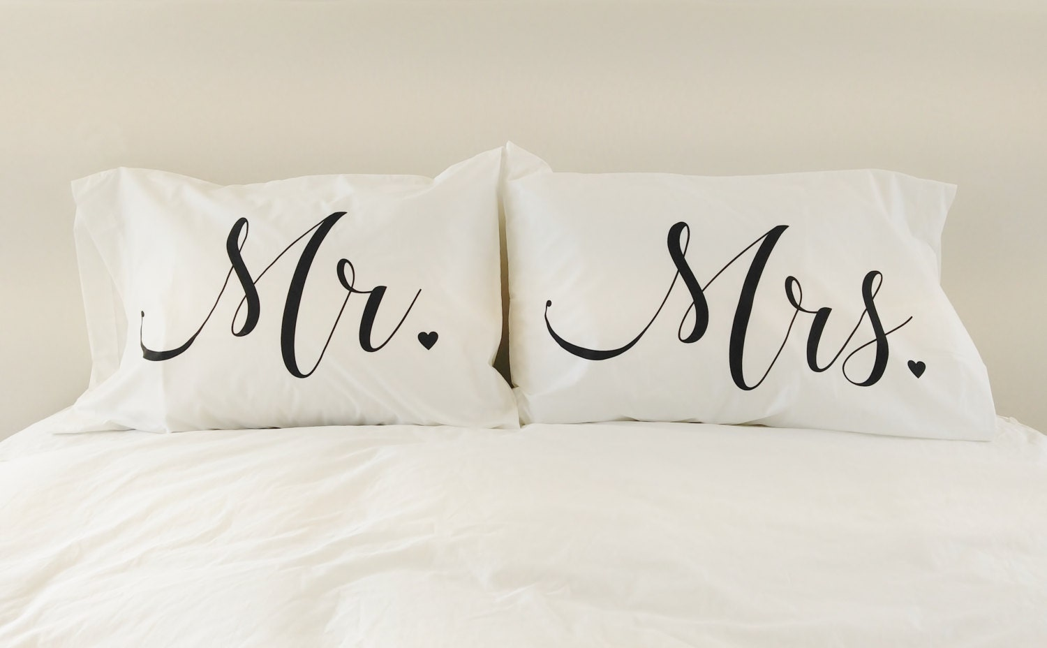 Pillowcases Wedding Gift Mr And Mrs Pillow Case Set His And