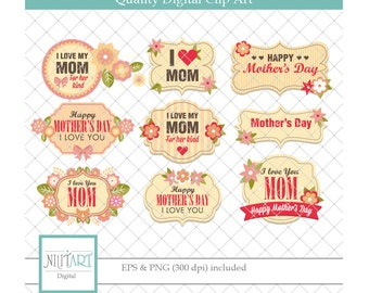 Mother's day clipart , Floral Frames vector graphics, frame digital clip art, mother digital images
