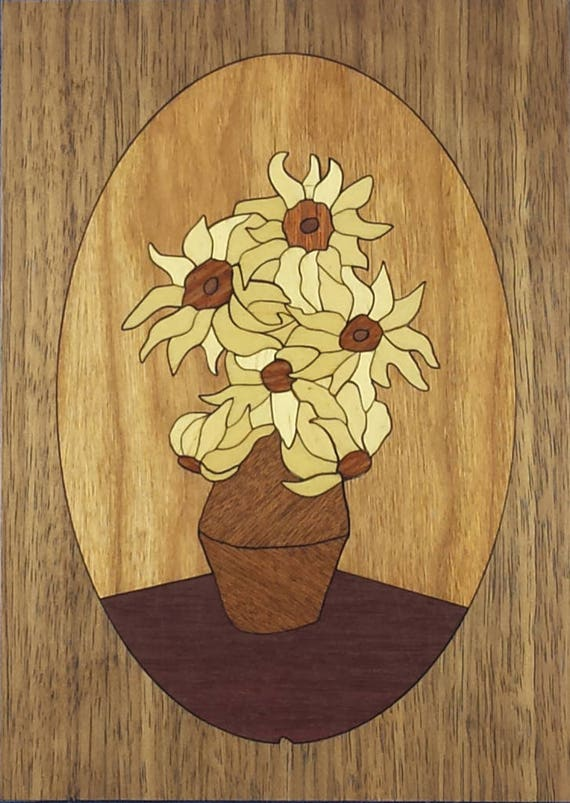 "Marquetry Project Kit - 5"" x 7"" Sunflowers"