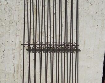 Antique Iron Garden Gate Fence Spearhead Architectural Salvage 40x1x91 #012